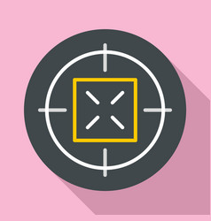 hunting gun aim icon flat style vector image