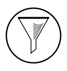 Icon of chemistry filler cone vector image