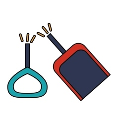 Isolated toy shovel damaged design vector