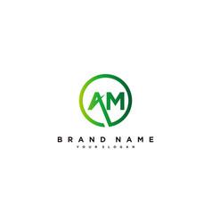 Letter am logo design vector