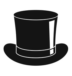 Magic hat icon simple style vector