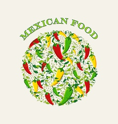 Mexican food concept background vector image