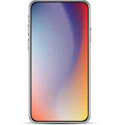 Modern smartphone template vector