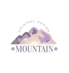 Mountain original design logo template tourism vector