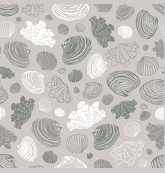 Neutral grey repeat pattern with variety of vector
