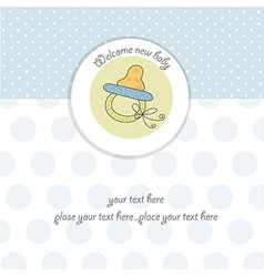 new baby boy shower card vector image