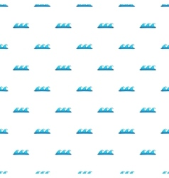 Ocean or sea wave pattern cartoon style vector