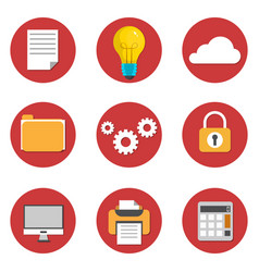 office flat icons design vector image