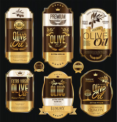olive oil retro vintage background collection 9 vector image