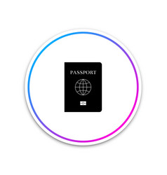passport with biometric data icon isolated on vector image