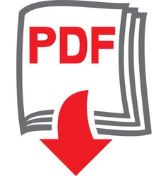 PDF Download Icon vector image
