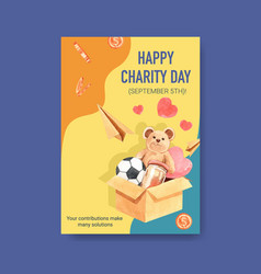 poster template with international day charity vector image