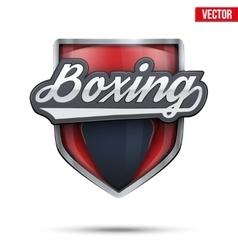 Premium symbol boxing label vector