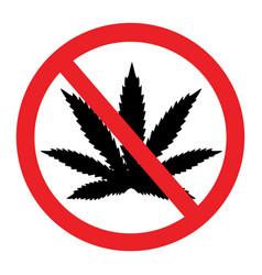 prohibition marijuana cannabis and hemp vector image