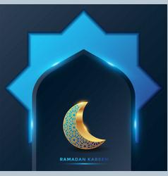 Ramadan kareem islamic greeting card background vector
