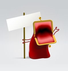 Red angry empty purse vector