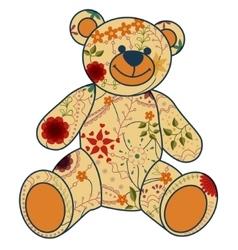Retro bear toy vector image