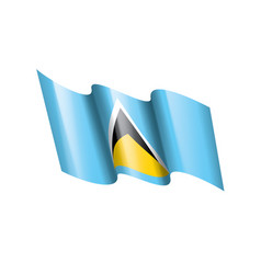 saint lucia flag on a white vector image
