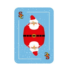 Santa Claus playing card New concept of playing vector