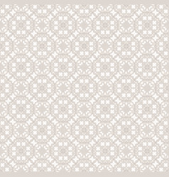 Seamless daisy pattern in french cream linen vector