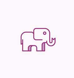 Simple geometry elephant design abstract vector