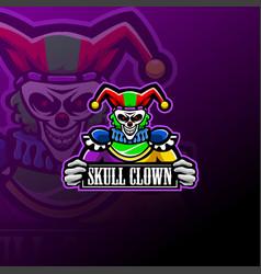 skull clown esport mascot logo vector image
