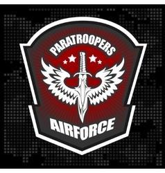Special unit military emblem design vector