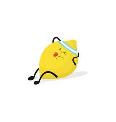 Sported lemon on white vector