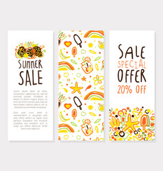 summer sale special offer vertical banner template vector image