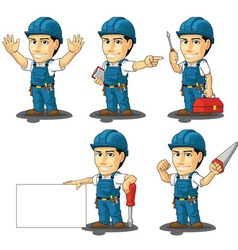 Technician or Repairman Mascot 2 vector image