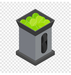 Tennis ball machine isometric icon vector