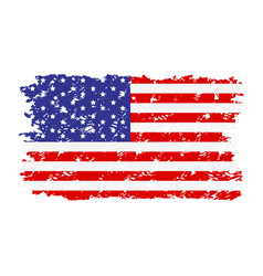 Usa flag texture rubber stamp vector