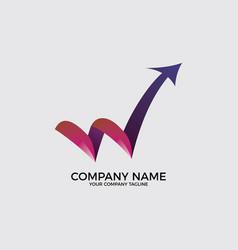 w logo concept for company vector image