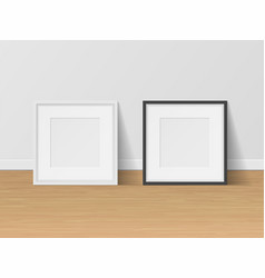 wall gallery photo frames set empty picture vector image