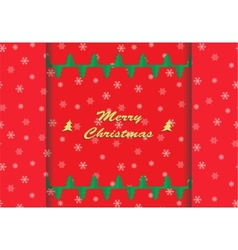 Christmas card with snowflake ornaments vector image vector image