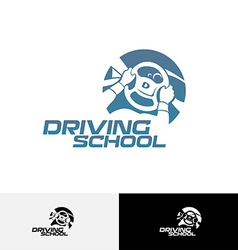 Driving school logo template vector image