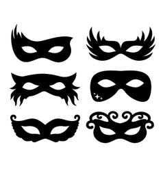 festive masks silhouette in vector image vector image