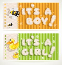 Its a boy and its a girl banners 2 vector image