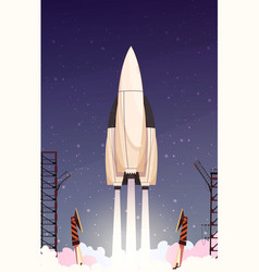 Rocket missile takeoff composition vector