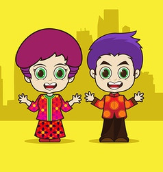 Asean Singapore cartoon vector image vector image