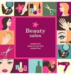 beauty salon frame vector image