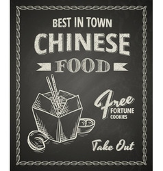 Chinese food poster vector image vector image