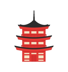 flat style of Japanese traditional building vector image vector image