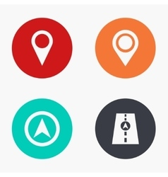 modern map pointer colorful icons set vector image