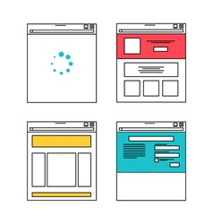 Basic website layout in flat style vector image