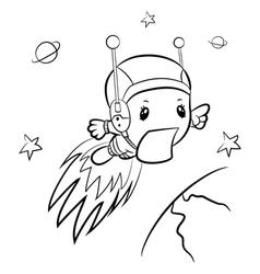 Cartoon boy-astronaut vector image