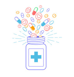 concept of treatment pharmacy vector image