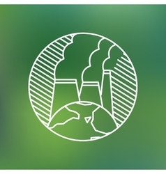 Earth globe environmental pollution planet vector image