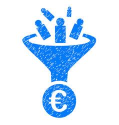 Euro sale conversion grunge icon vector