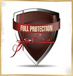Full protected shield vector image vector image